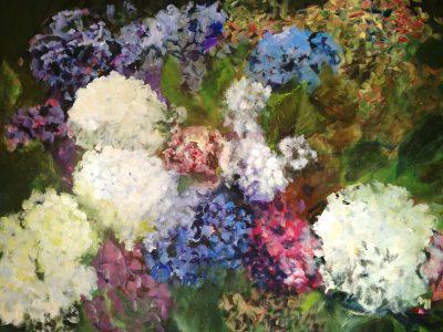 tableau hortensias 15 - Sibylle du Peloux
