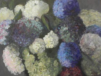 tableau hortensias 16 - Sibylle du Peloux
