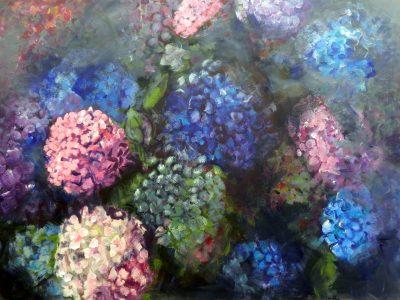 Tableau hortensias 4 - Sibylle du Peloux