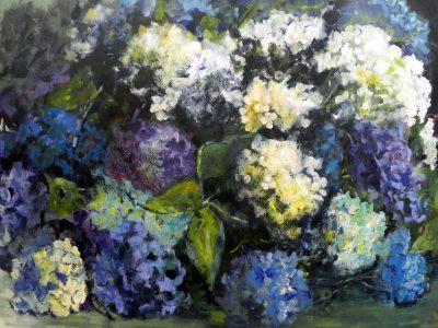Tableau hortensias 7 - Sibylle du Peloux